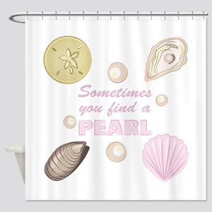 A Pearl Shower Curtain