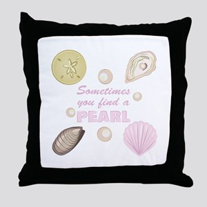 A Pearl Throw Pillow