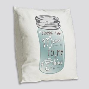 Moon Shine Burlap Throw Pillow