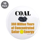 """Coal Concentrated Solar 3.5"""" Button (10 Pack)"""