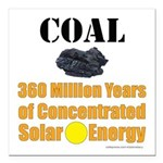 """Coal Concentrated Solar Square Car Magnet 3"""""""