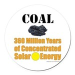 Coal Concentrated Solar Round Car Magnet