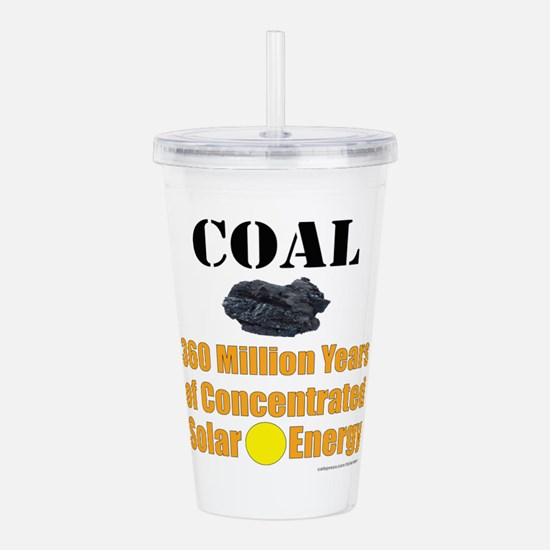Coal Concentrated Acrylic Double-Wall Tumbler
