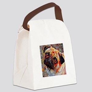 Pug: A Portrait in Oil Canvas Lunch Bag