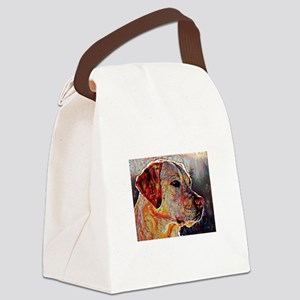 Yellow Lab: A Portrait in Oil Canvas Lunch Bag