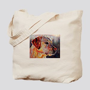 Yellow Lab: A Portrait in Oil Tote Bag