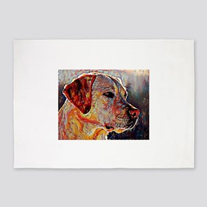 Yellow Lab: A Portrait in Oil 5'x7'Area Rug