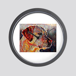 Yellow Lab: A Portrait in Oil Wall Clock