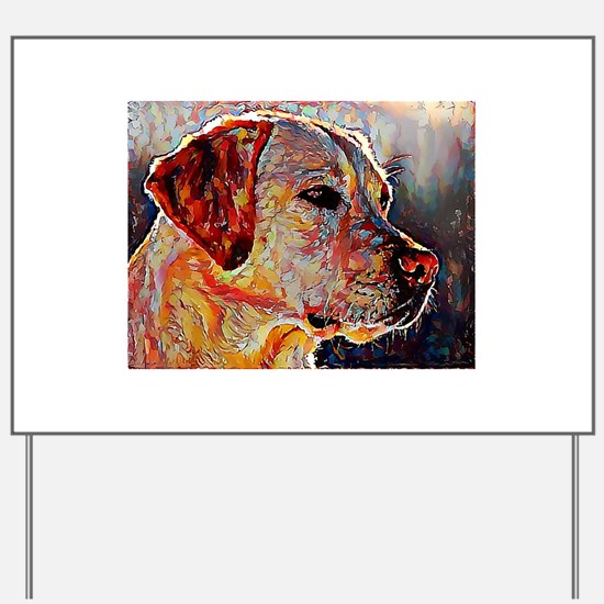 Yellow Lab: A Portrait in Oil Yard Sign