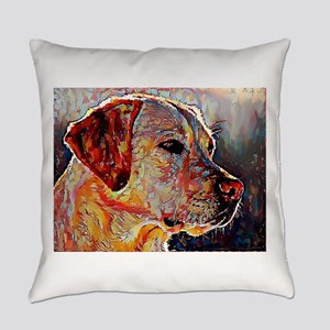 Yellow Lab: A Portrait in Oil Everyday Pillow