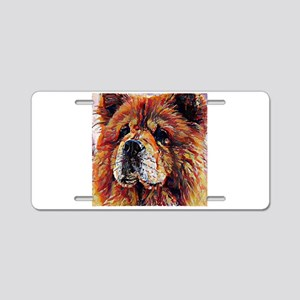 Chow Chow: A Portrait in Oi Aluminum License Plate