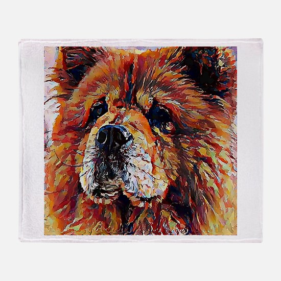 Chow Chow: A Portrait in Oil Throw Blanket