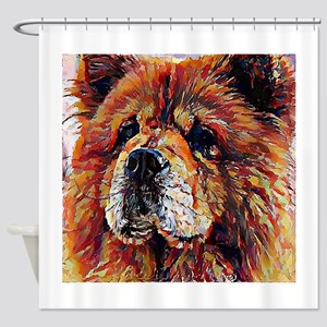 Chow Chow: A Portrait in Oil Shower Curtain