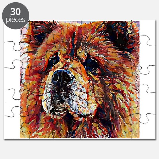Chow Chow: A Portrait in Oil Puzzle