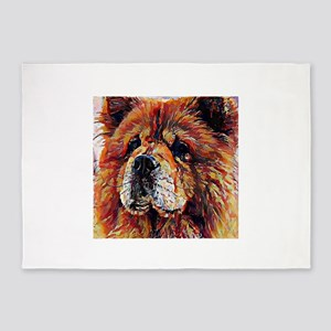 Chow Chow: A Portrait in Oil 5'x7'Area Rug