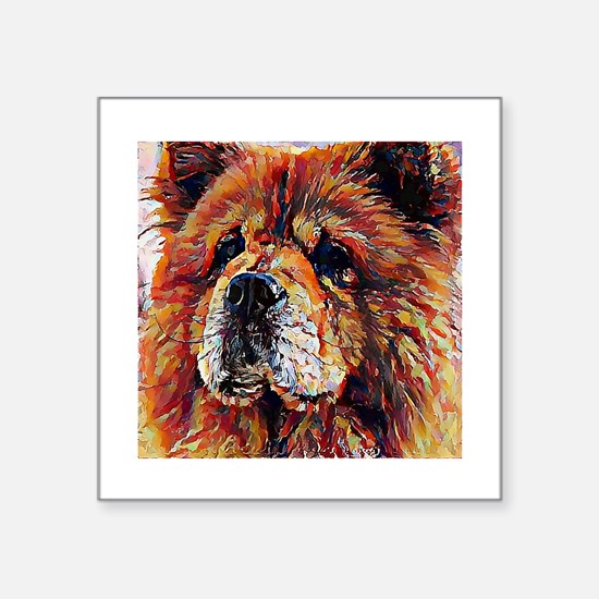 """Chow Chow: A Portrait in Oi Square Sticker 3"""" x 3"""""""
