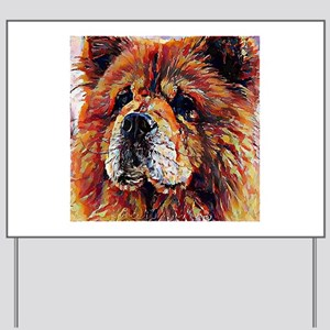 Chow Chow: A Portrait in Oil Yard Sign