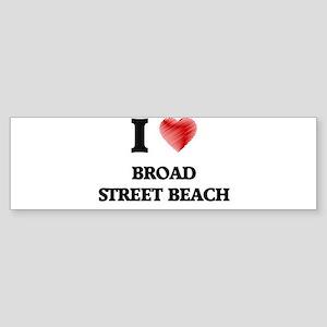 I love Broad Street Beach Wisconsin Bumper Sticker