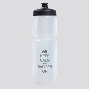 Keep Calm and Badger On Sports Bottle