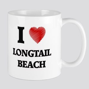 I love Longtail Beach Wisconsin Mugs