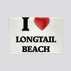 I love Longtail Beach Wisconsin Magnets