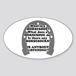 What is a Horseshoe? Oval Sticker