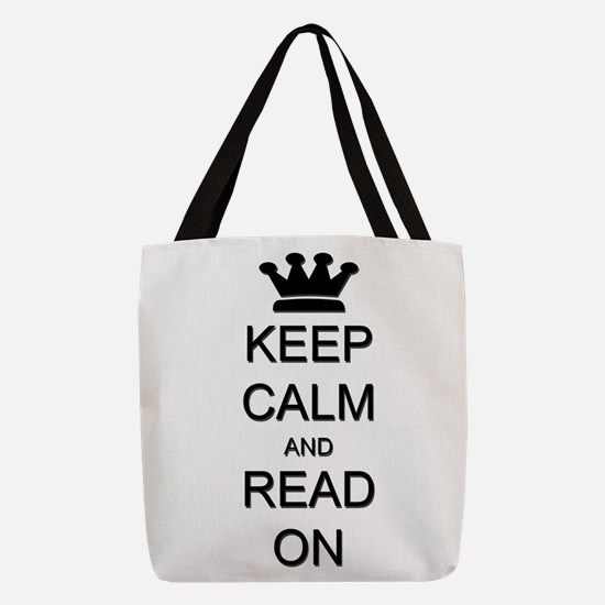 Keep Calm and Read On Reading Polyester Tote Bag