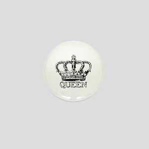 Queen Crown Mini Button
