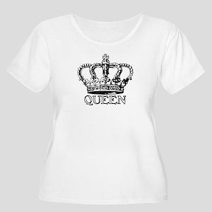 Queen Crown Women's Plus Size Scoop Neck T-Shirt