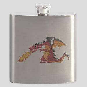 Cartoon dragon image Flask