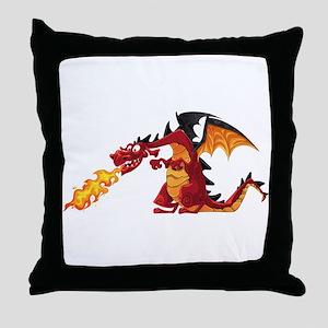 Cartoon dragon image Throw Pillow
