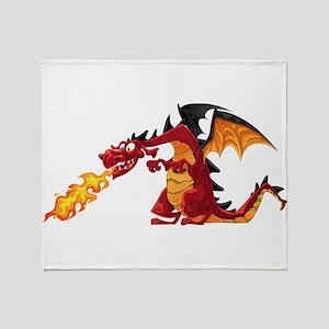 Cartoon dragon image Throw Blanket