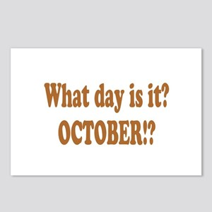 What day is it? October? Postcards (Package of 8)