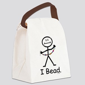 Beading Stick Figure Canvas Lunch Bag