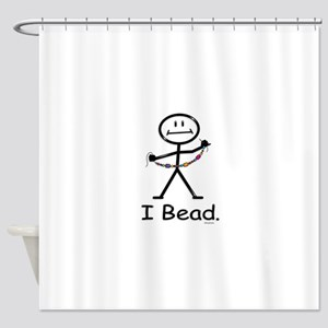Beading Stick Figure Shower Curtain