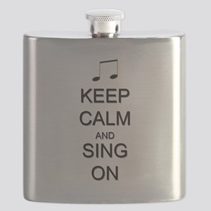Keep Calm and Sing On Flask