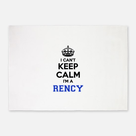 I can't keep calm Im RENCY 5'x7'Area Rug
