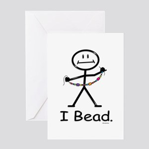 Beading Stick Figure Greeting Card