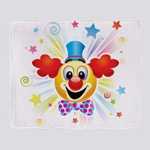 Clown profile abstract design Throw Blanket