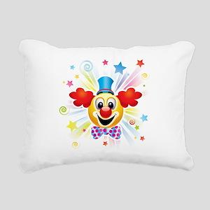 Clown profile abstract d Rectangular Canvas Pillow
