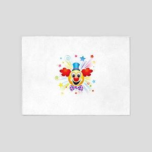 Clown profile abstract design 5'x7'Area Rug