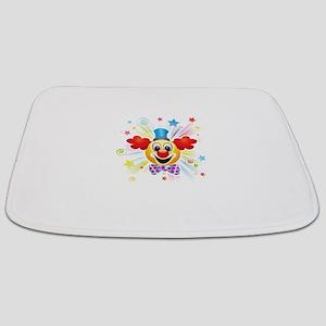 Clown profile abstract design Bathmat