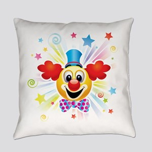 Clown profile abstract design Everyday Pillow