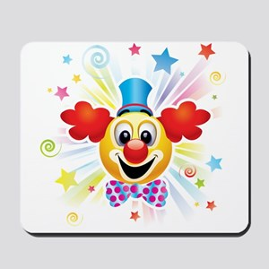 Clown profile abstract design Mousepad
