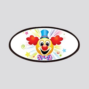 Clown profile abstract design Patch