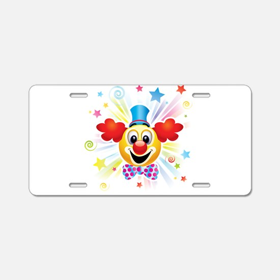 Clown profile abstract desi Aluminum License Plate