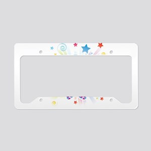 Clown profile abstract design License Plate Holder