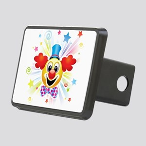 Clown profile abstract des Rectangular Hitch Cover