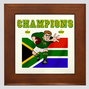 South Africa Rugby Framed Tile