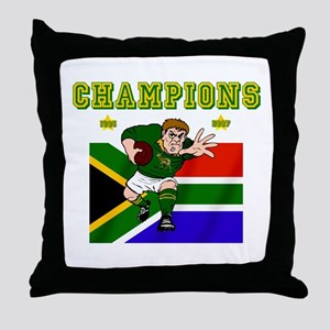 South Africa Rugby Throw Pillow